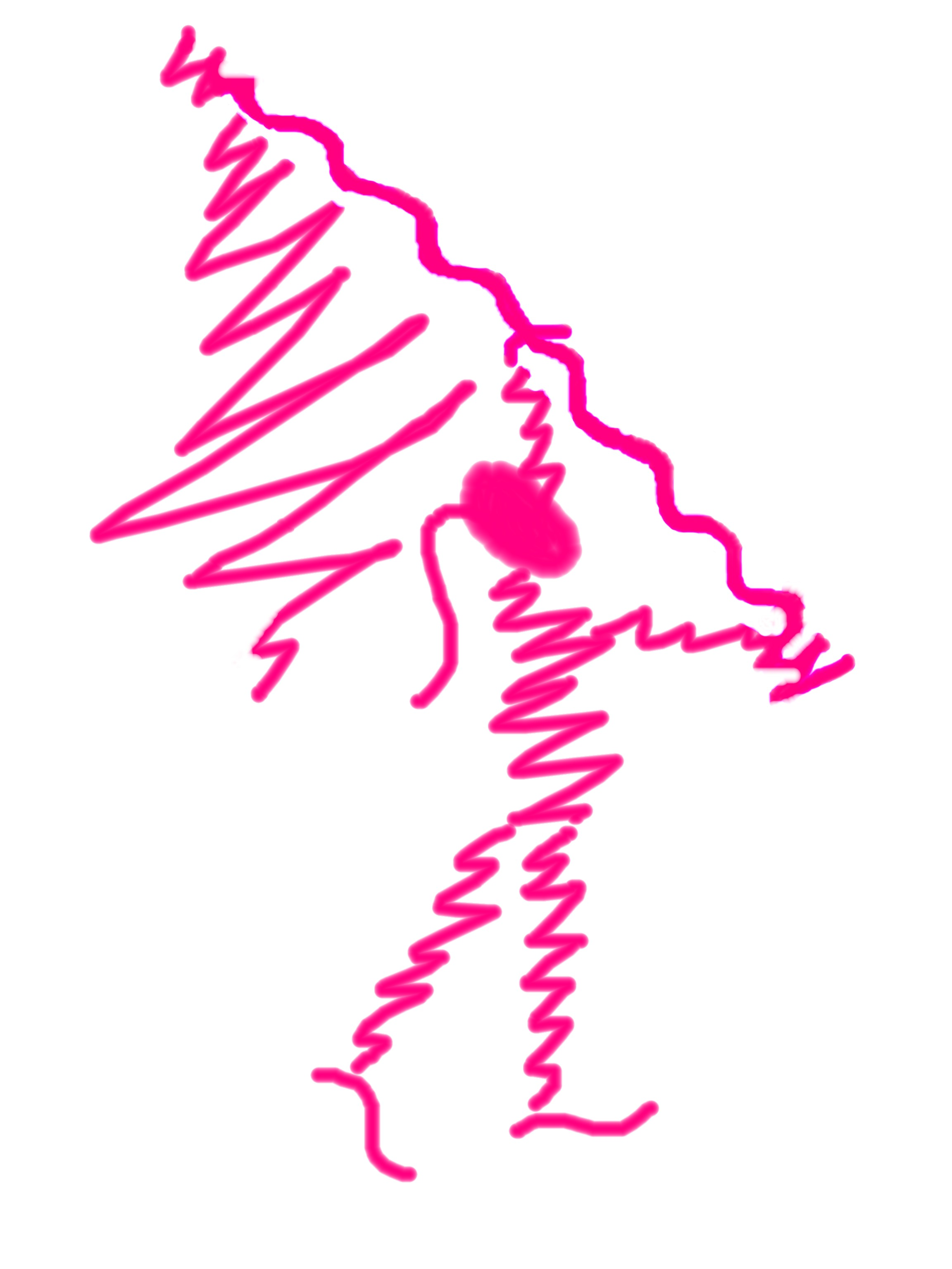 Hot Pink Scribble Flag Girl