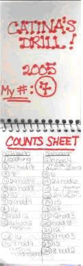 your counts sheet