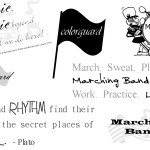 Marching Band Digital Scrapbooking Word Art