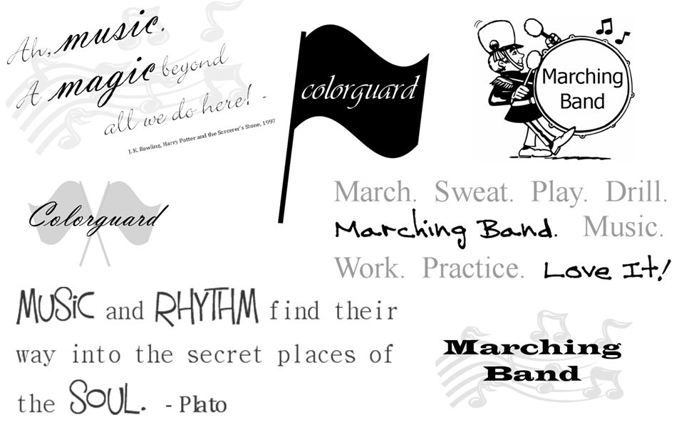 Marching Band Digital Scrapbooking Word Art Colorguardeducator Com